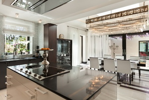 gorgeous kitchen with island stovetop