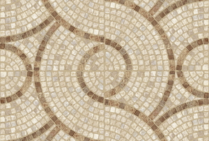 brown and tan mosaic tile flooring