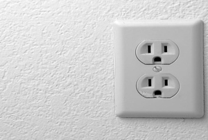An electrical outlet.