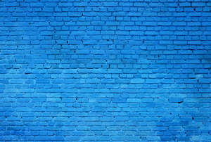 brick wall painted blue