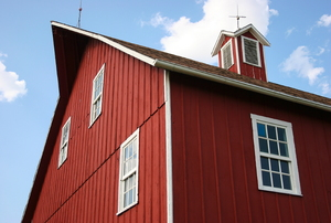 barn with cupola