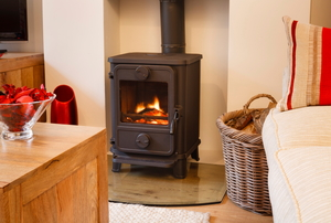 wood stove and hearth pad