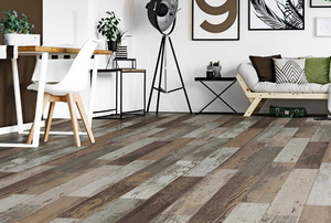 wood-look laminate tile