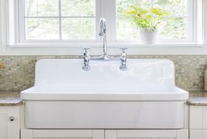 A farmhouse style kitchen sink