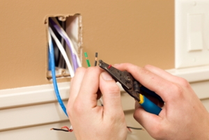 Stripping wires for an electrical outlet