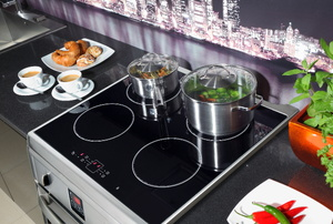 An electric cooktop.