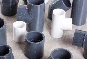 PVC pipes.