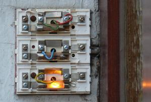 doorbells with exposed wiring