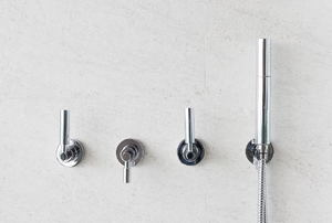 Various shower handles.