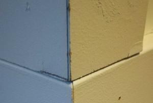 a corner baseboard