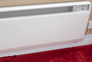 An electric wall heater.