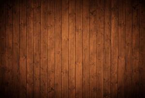 Dark wood paneling.