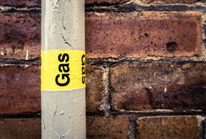 A gas line.