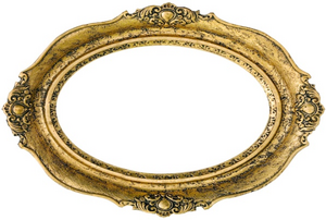 oval mirror with gold frame