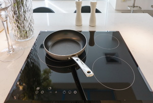 A ceramic cooktop.