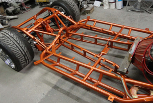 orange car chassis