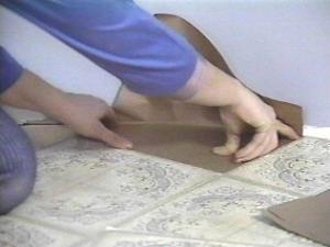 Self Adhesive Vinyl Tiles Laying The