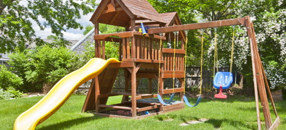 Refinishing A Wood Swing Set Doityourself Com