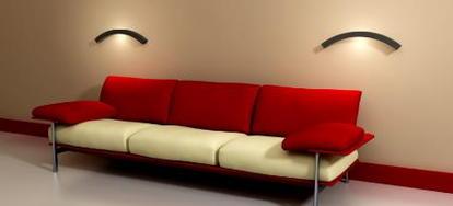 Contrasting Dark Furniture Color With Livingroom Walls