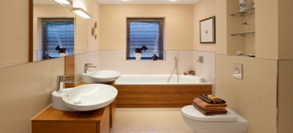 building a roman tub. A roman tub is different than a traditional western style in that it  much deeper and often wider longer They are built into the floor Benefits of Roman Tub DoItYourself com
