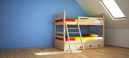 How to make a bunk bed ladder cover