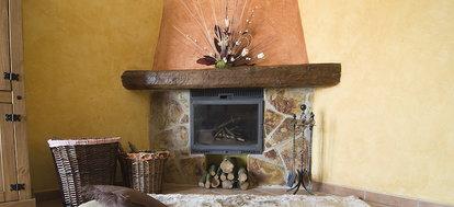 A Mantel On Fireplace
