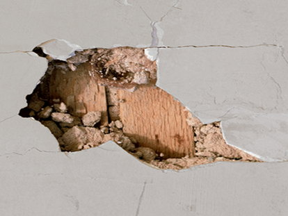 Repairing Holes In Plaster Walls Hole White Wall