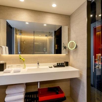 Stupendous How To Hang A Bathroom Mirror Doityourself Com Download Free Architecture Designs Ferenbritishbridgeorg