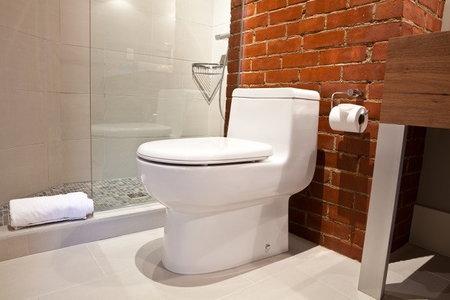 Heated seat on toilet
