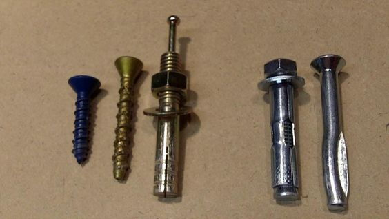 assortment of wall anchors
