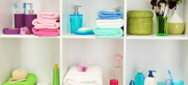 How To Decorate Bathroom how to decorate bathroom shelves | doityourself