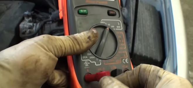 wire ammeter gauge in car