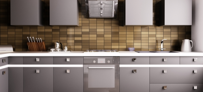 metal surfaces in a kitchen
