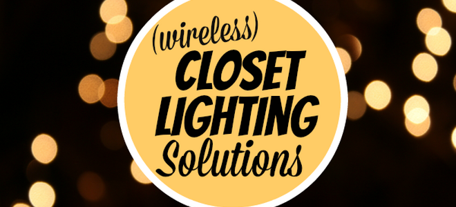 4 ways to add lighting to your closet without wiring. Black Bedroom Furniture Sets. Home Design Ideas