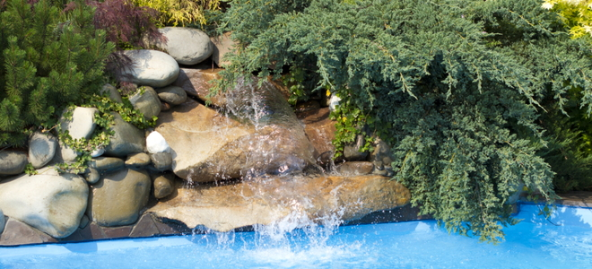 Build A Pool Rock Waterfall In Four Steps Doityourself Com