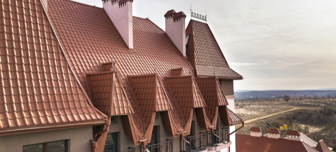 a steep roof