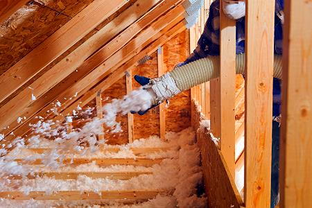 Using blown insulation for Blown rockwool insulation