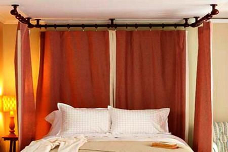 Ceiling Mounted Plumbing Pipe Canopy Bed Doityourself Com