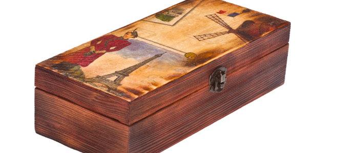 a decoupaged box