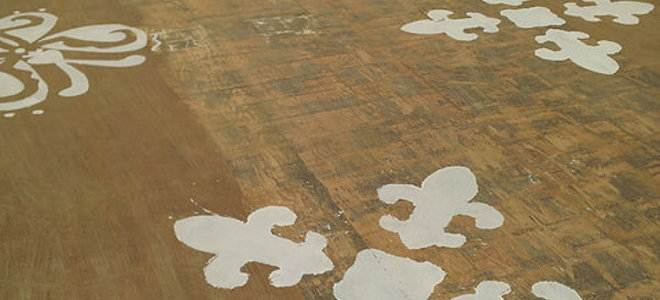 Use A Small Roller To Paint Over The Stencil Pushing Very Lightly And Carefully Only Amount Of At Time As Too Much Can Seep