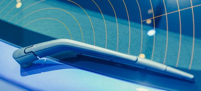 electric car windshield wiper blade on rear window