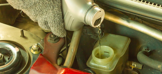 changing fluid in the area of electric cars