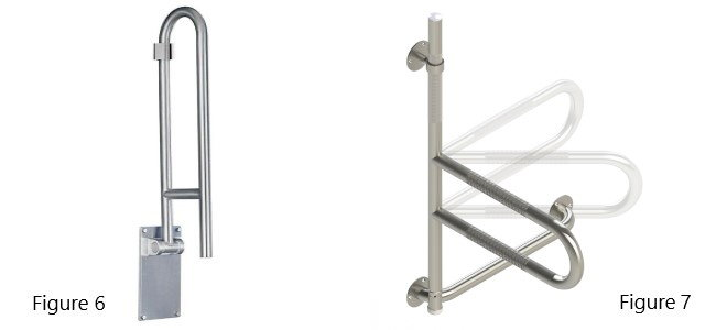 grab bars with hinges