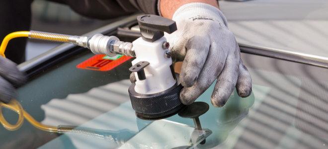 hand apply professional windshield crack repair unit