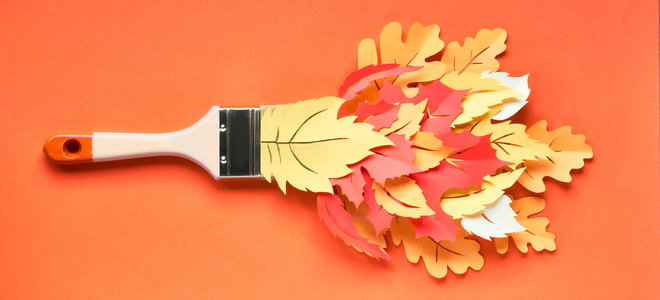 brush with leaf coming out design