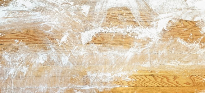 powder on wooden floors