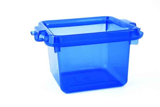 blue storage tote