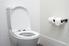 Toilet in a bathroom