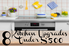 A background of a kitchen with the phrase