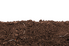 Soil on a white background.